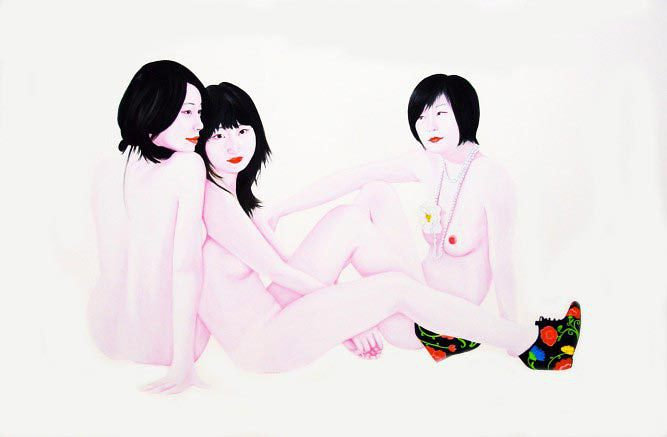 frederic-leglise-ziqiao-jing-and-nan-huile-et-email-sur-toile-130x195-cm-2011