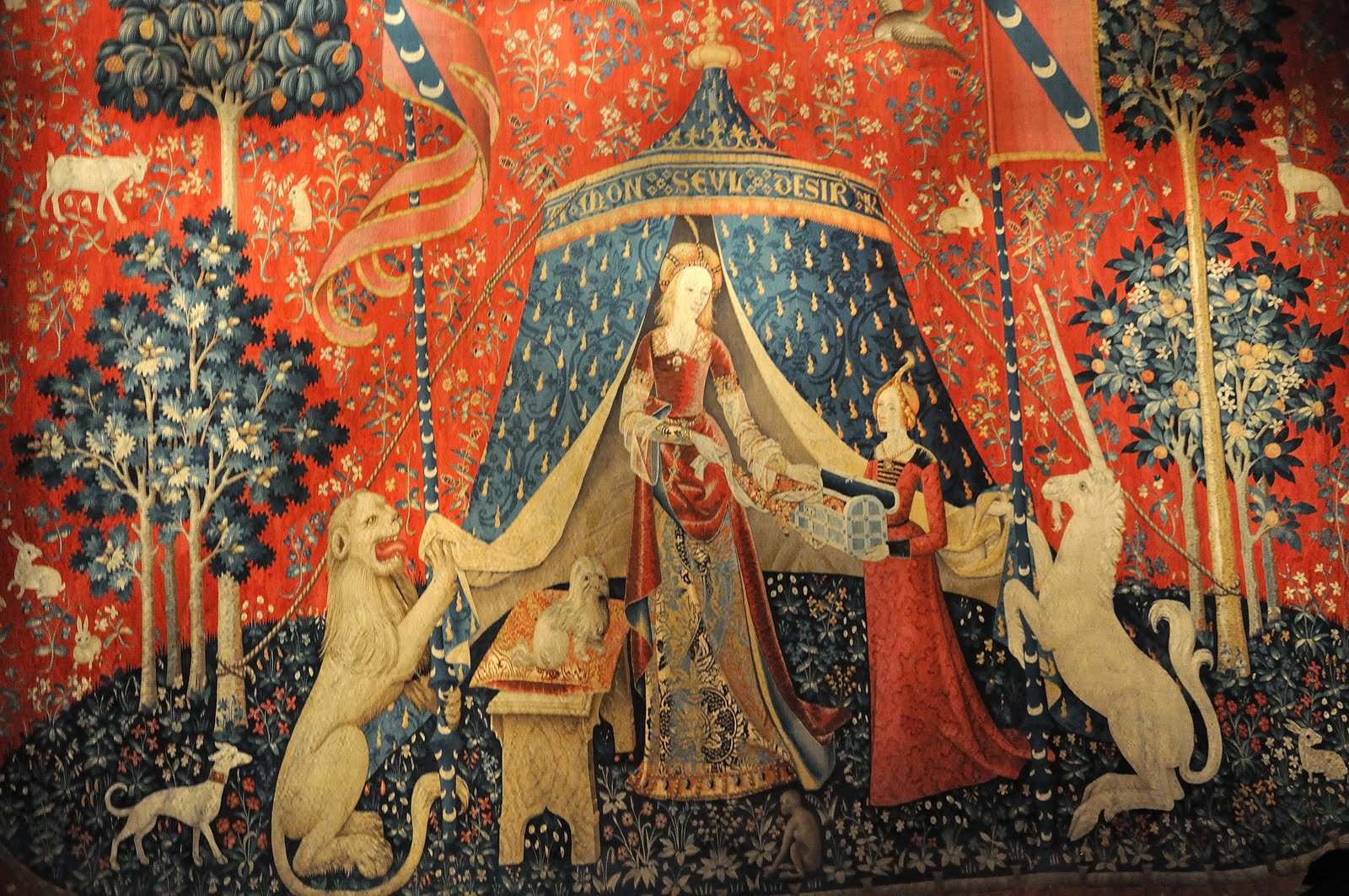 OBRA DE ARTE DA SEMANA: A magia da tapeçaria A dama e o unicórnio ...