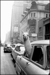 USA. New York City. 1957. A Llama in Times Square.