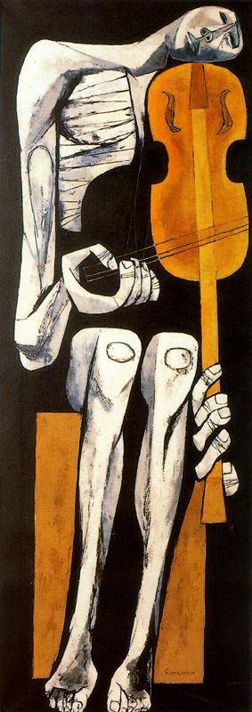 """OBRAS INQUIETAS 41. """"O violinista"""" (1967), Oswaldo Guayasamín"""