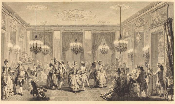 Antoine-Jean Duclos, 'Le bal paré', 1774