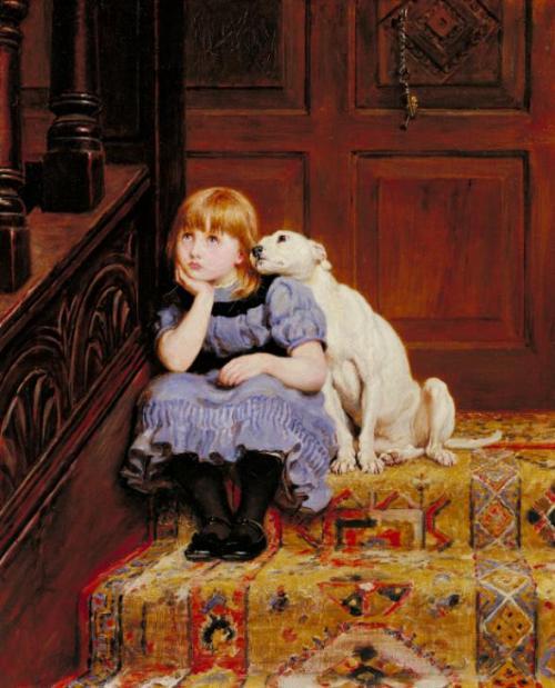 Sympathy c.1878 by Briton Riviere 1840-1920