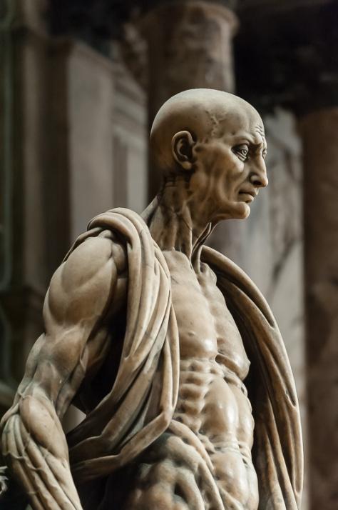 La statua di San Bartolomeo scorticato, Duomo di Milano